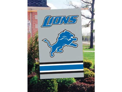 Detroit Lions Applique House Flag