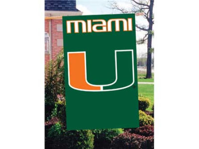 Miami Hurricanes Applique House Flag