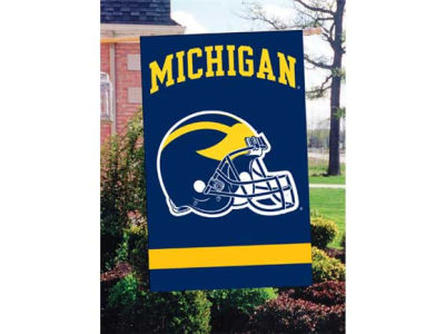 Michigan Wolverines Applique House Flag