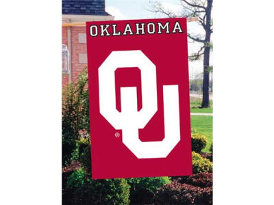 Oklahoma Sooners Applique House Flag