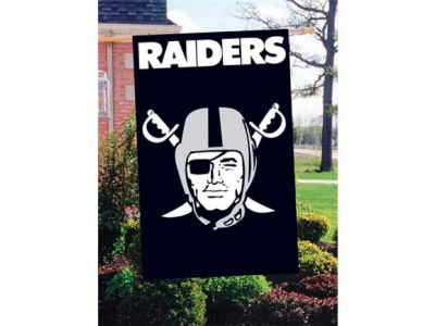 Oakland Raiders Applique House Flag