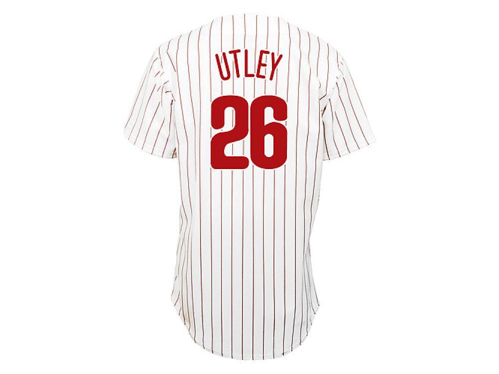 Philadelphia Phillies Chase Utley Majestic MLB Men s Player Replica Jersey   488dd0dc287