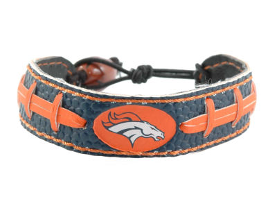 Denver Broncos Team Color Football Bracelet