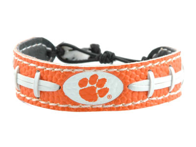 Clemson Tigers Team Color Football Bracelet