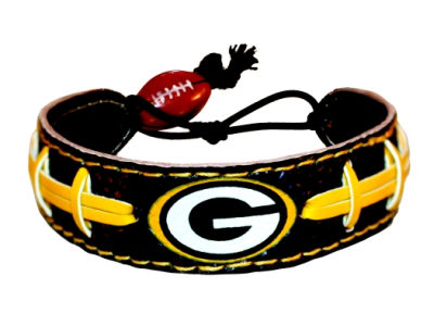 Green Bay Packers Team Color Football Bracelet