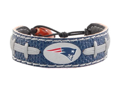 New England Patriots Team Color Football Bracelet