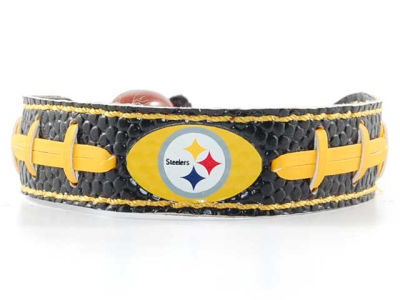 Pittsburgh Steelers Team Color Football Bracelet