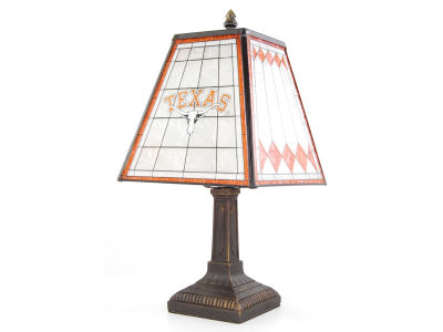 Texas Longhorns Art Glass Table Lamp