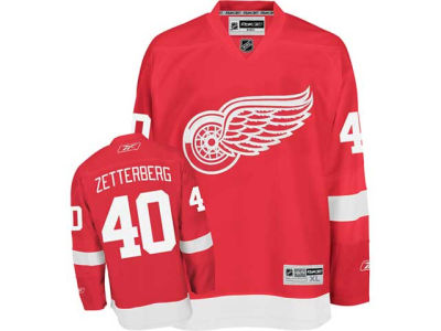 Detroit Red Wings Henrik Zetterberg Reebok NHL Premier Player Jersey