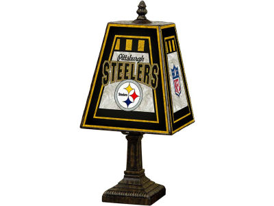 Pittsburgh Steelers Art Glass Table Lamp