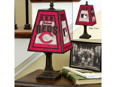 Cincinnati Reds Art Glass Table Lamp