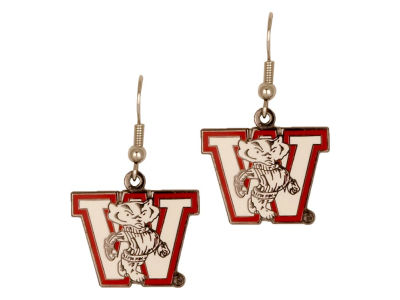 Wisconsin Badgers Logo Earrings