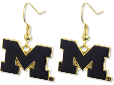 Michigan Wolverines Logo Earrings