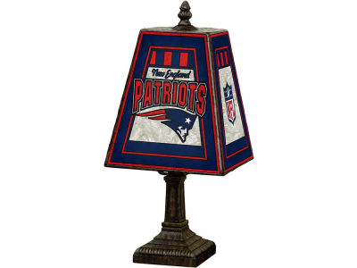 New England Patriots Art Glass Table Lamp