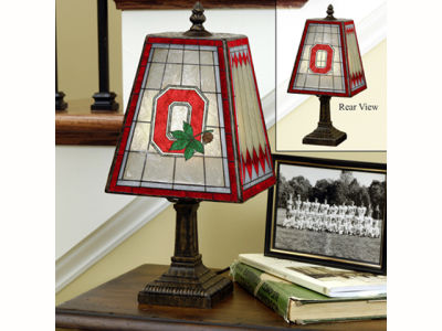 Ohio State Buckeyes Art Glass Table Lamp