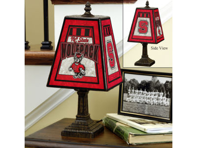 North Carolina State Wolfpack Art Glass Table Lamp