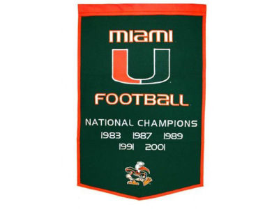 Miami Hurricanes Dynasty Banner