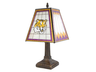 LSU Tigers Art Glass Table Lamp