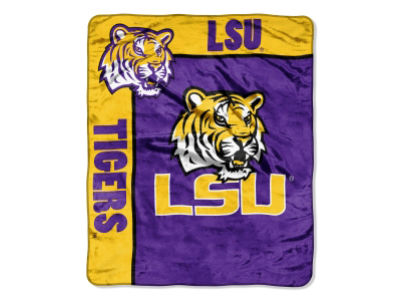 LSU Tigers 50x60in Plush Throw Blanket