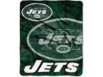 New York Jets 50x60in Plush Throw Roll Out