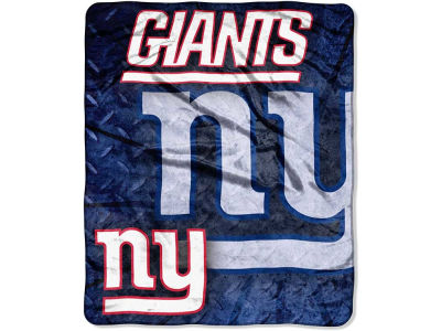 New York Giants 50x60in Plush Throw Roll Out
