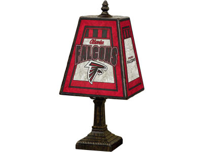 Atlanta Falcons Art Glass Table Lamp