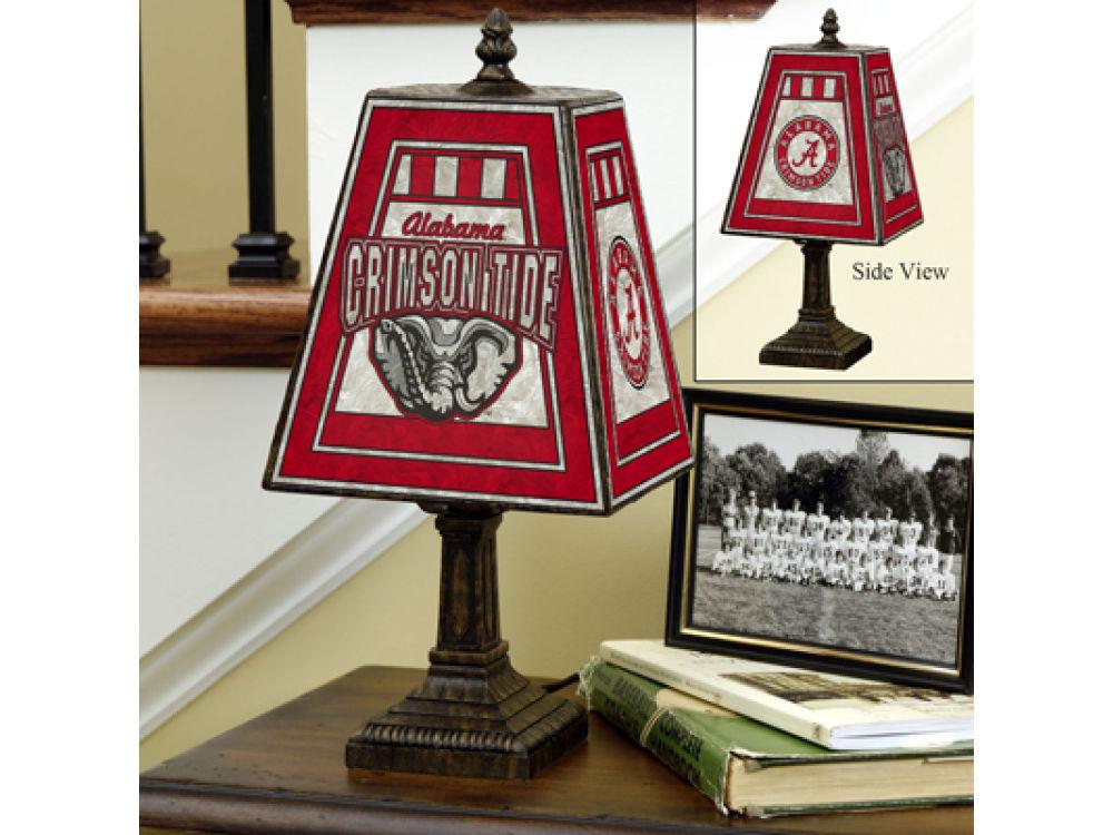 Alabama Crimson Tide Art Gl Table Lamp