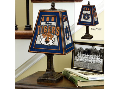 Auburn Tigers Art Glass Table Lamp