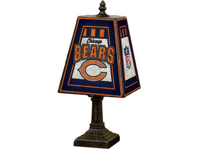 Chicago Bears Art Glass Table Lamp