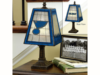 St. Louis Blues Art Glass Table Lamp
