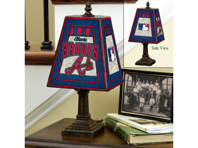 Atlanta Braves Art Glass Table Lamp