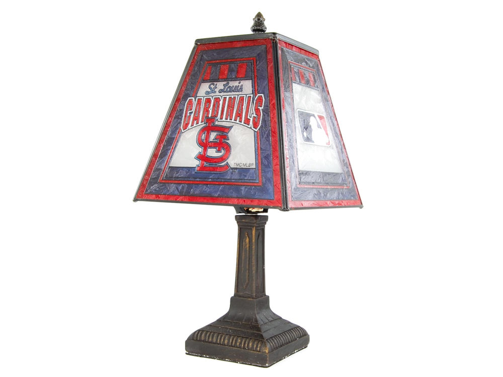 St louis cardinals art glass table lamp lids st louis cardinals art glass table lamp mozeypictures Choice Image