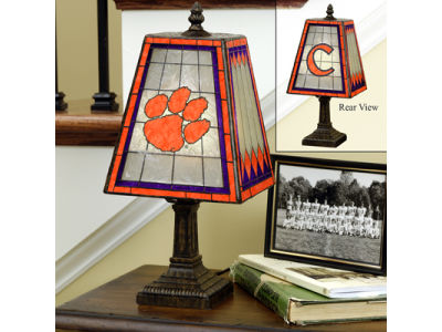 Clemson Tigers Art Glass Table Lamp