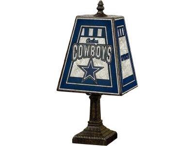 Dallas Cowboys Art Glass Table Lamp