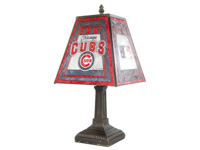 Chicago Cubs Art Glass Table Lamp