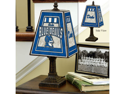 Duke Blue Devils Art Glass Table Lamp