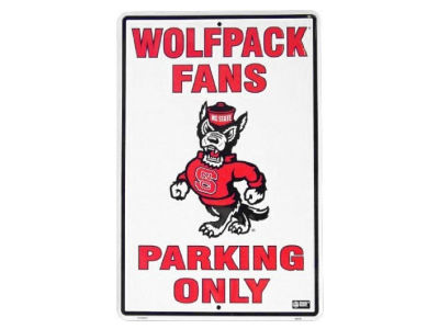 North Carolina State Wolfpack Parking Sign