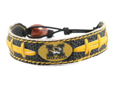 Missouri Tigers Team Color Football Bracelet