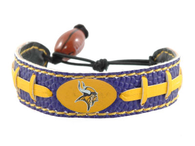 Minnesota Vikings Team Color Football Bracelet