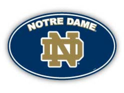 Notre Dame Fighting Irish 8in Car Magnet