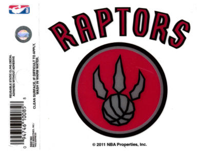 Toronto Raptors Static Cling Decal