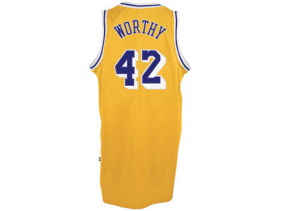 Los Angeles Lakers James Worthy adidas NBA Men's Retired Player Swingman Jersey