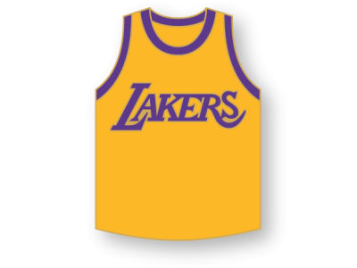 Los Angeles Lakers Aminco Jersey Pin