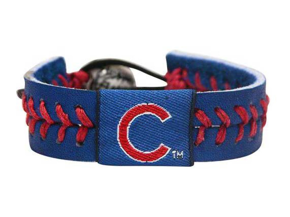 Chicago Cubs Team Color Baseball Bracelet