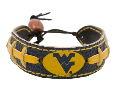 West Virginia Mountaineers Team Color Football Bracelet