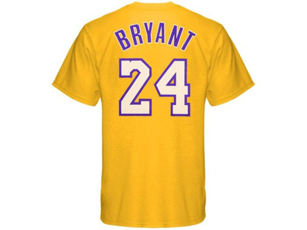 Los Angeles Lakers Kobe Bryant adidas NBA Men s Player T-Shirt ... 57f710b78