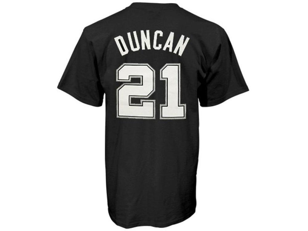 00c156b5a San Antonio Spurs Tim Duncan adidas NBA Men s Player T-Shirt