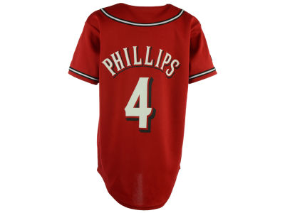 Cincinnati Reds Brandon Phillips Majestic MLB OLD Youth Player Replica Jersey