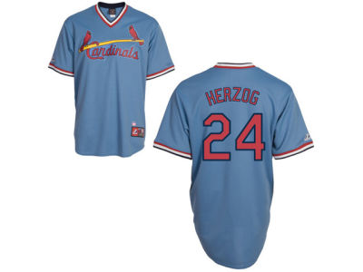 St. Louis Cardinals Whitey Herzog Majestic MLB Men's Cooperstown Fan Replica Jersey