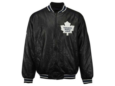 Toronto Maple Leafs NHL CN Faux Leather Jacket